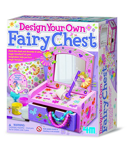 4M - Paint & Make Your Own Fairy Mirror Chest, Juego de Creatividad (004M2738)