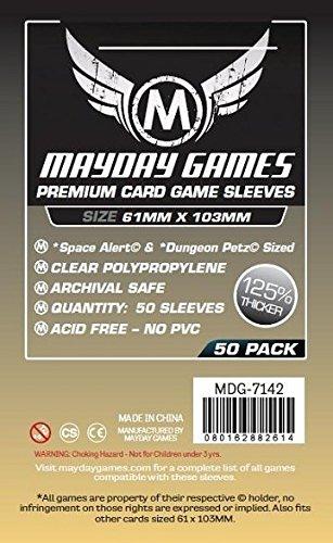 50 Mayday 61 x 103 Space Alert & Dungeon Petz Premium Card Sleeves Board Game