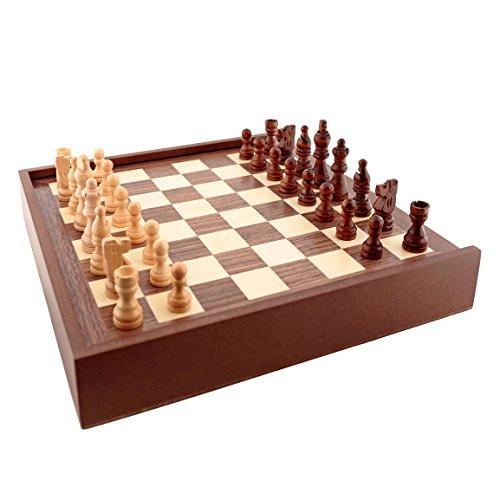 Aquamarine Games - 6 Juegos clásicos: ajedrez, Damas, Backgammon, oca, parchís, Escalera (CP030)
