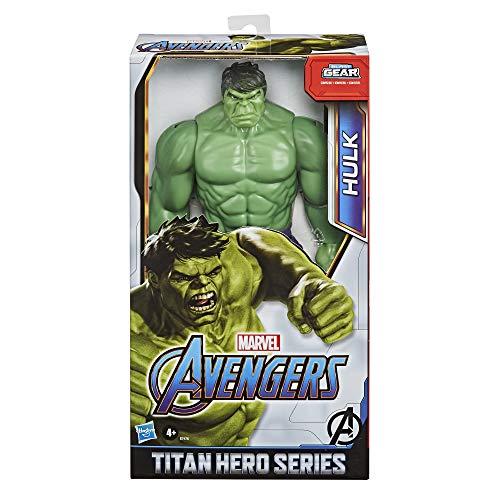 Avengers- Figura Titan Hero Deluxe Hulk, Color verde oliva (Hasbro E74755L0)