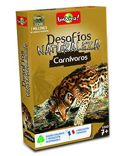 Bioviva- Juego de cartas Desafíos Naturaleza Carnívoros (Asmodee 307) , color/modelo surtido
