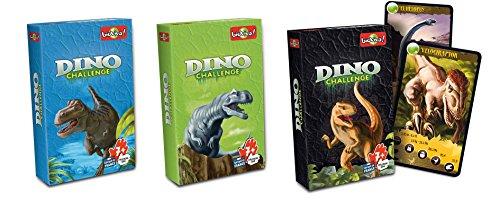 Bioviva- Juego de Cartas Dino Challenge, Color Verde (Asmodee DIN01)