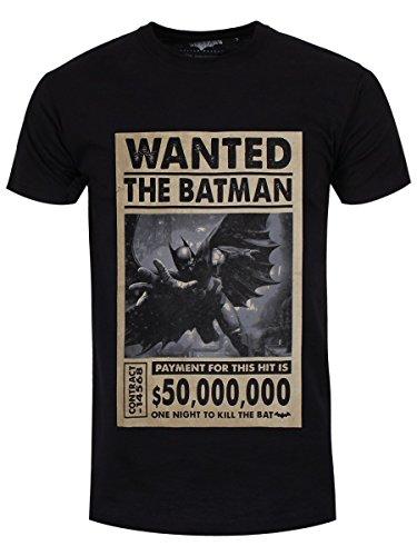 Codi The Batman Wanted One Night Batman - Camiseta de Manga Corta, Color Negro