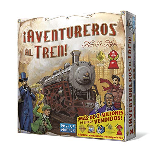 Days of Wonder- Aventureros Al Tren - Español, Multicolor, Talla Única (DW7281)