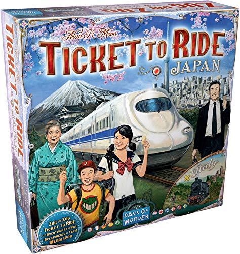 Days of Wonder-¡Aventureros al Tren Italia & Japón-Varios Idiomas-ES/NL/EN/DE/SE/NO/DK/PT/FI/JP (DOW720132) , color/modelo surtido