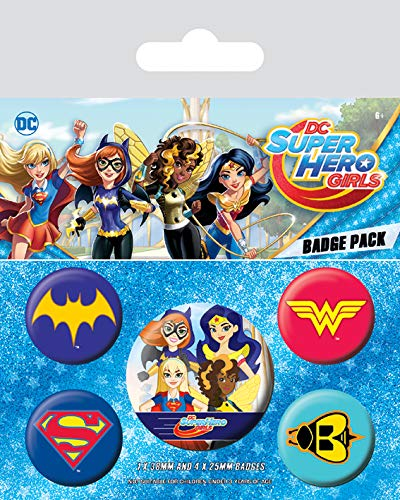 DC Universe DC Super Hero Girls – Logotipo 's, 10 x 12,5 cm, multicolor