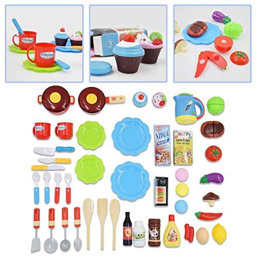 """deAO Cocinita """"Mi Pequeño Chef"""" con Características de Sonidos, Panel Táctil y Agua - Más de 40 Accesorios Incluidos (Azul) , color/modelo surtido"""
