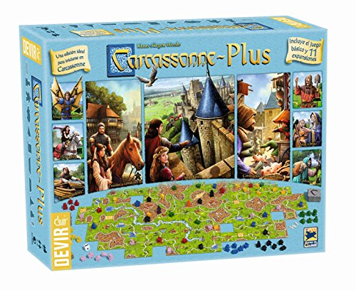 Devir - Carcasonne Plus, juego básico + 11 expansiones (BGCARPLUS3)