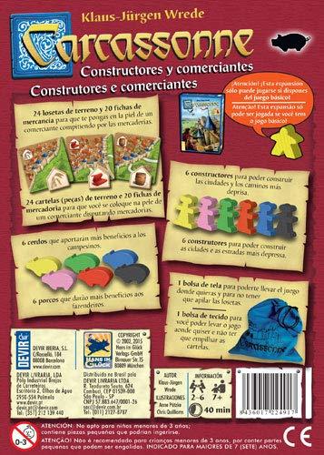 Devir - Carcassonne: Constructores y Comerciantes (BGCARCO)