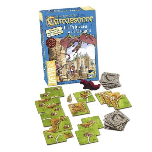 Devir - Carcassonne La Princesa y el Dragón, Juego de Mesa (BGPRINCESA)