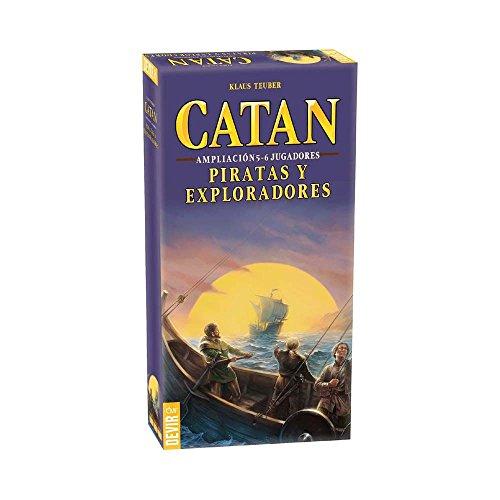Devir - Catan, Piratas y Exploradores, juego de mesa (BGPIR56) - Ampliación para 5 y 6 jugadores