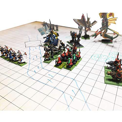 Dungeon Grid Game Mat   IMPRESCINDIBLE accesorio para Juegos de Rol - Batallas – Juegos de Mesa   COMPATIBLE con D&D, Pathfinder y Warhammer   REUTILIZABLE, DURABLE Y PORTÁTIL