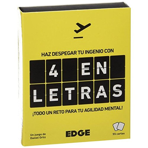 Edge Entertainment EEES4L01 - Juego de cartas 4 en Letras , color/modelo surtido