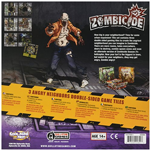 Edge Entertainment- Zombicide Temporada Angry Neighbors Game Tiles - Varios Idiomas, Color (EDGZG65)