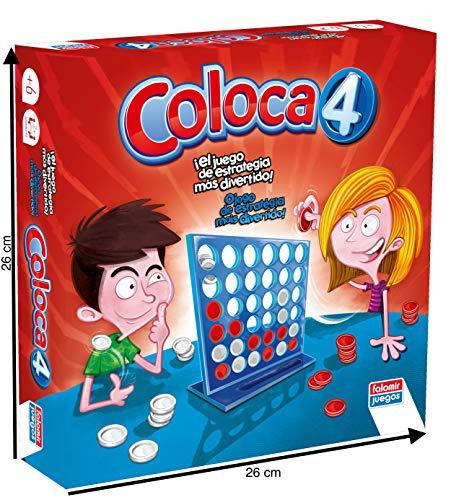 Falomir- Coloca 4 Juego de Mesa, Multicolor, única (646469)