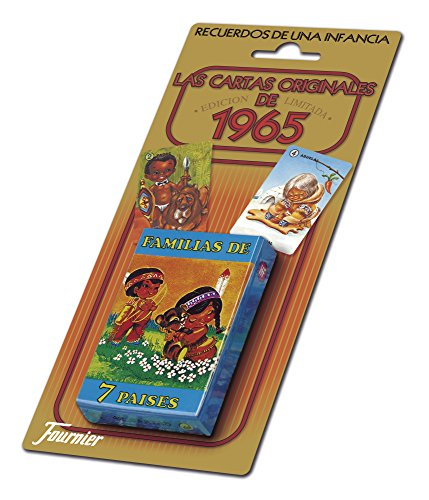 Fournier- Familias 7 Países Baraja de Cartas Infantil clásica, Multicolor (21966)