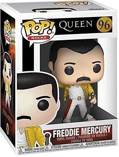 Funko- Pop Vinyl: Rocks: Queen: Freddie Mercury (Wembley 1986) Figura Coleccionable, Multicolor, Talla única (33732)