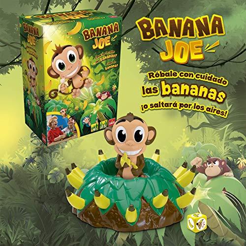 Goliath Banana Joe. Róbale con Cuidado los plátanos a Este Monito Saltarín… ¡o saltará por los Aires, Color marrón (30998)