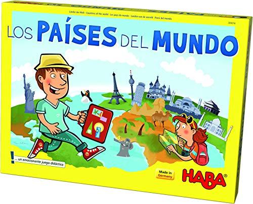 HABA- Juego de Mesa, Los Países del Mundo, Multicolor (Habermass H304216)