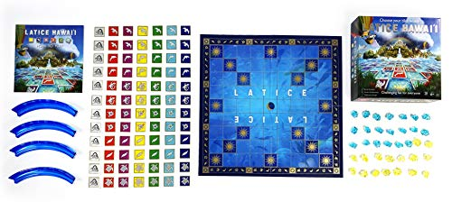 Juego de cartas de estrategia de latice – el popular juego familiar para niños y adultos, diversión desafiante para todo el mundo, Hawaii (caja magnética)