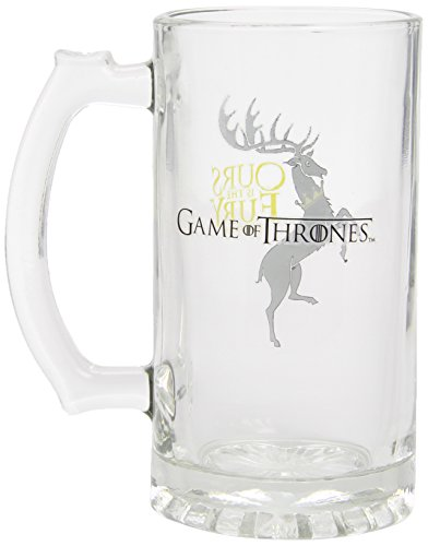 "Juego de Tronos - Jarra para cerveza de cristal, diseño Baratheon""Ours Is The Fury"" (SD Toys SDTSDT27342)"