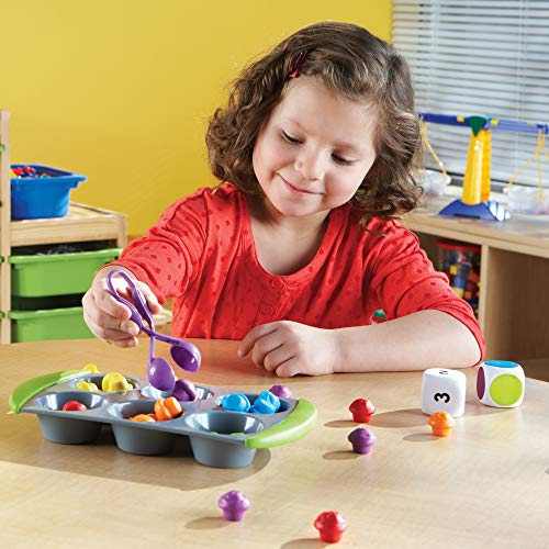 Learning Resources- Set de Actividades de matemáticas Mini Muffin Match Up, Color (LER5556)