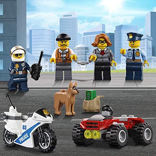 LEGO City - Centro de Control Móvil, Juguete de Policía de Construcción con Camión, Coche y Moto para Niños y Niñas de 6 a 12 Años, Incluye Figura de Perro (60139)