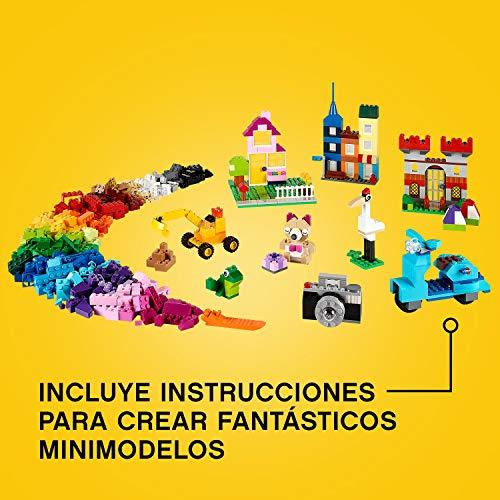LEGO Classic - Caja de ladrillos creativos grande, Set de Construcción con ladrillos de colores, Juguete Creativo y divertido a partir de 4 años, incluye separador de piezas (10698)