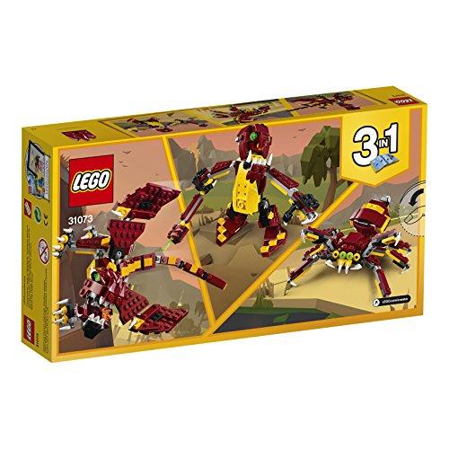 LEGO Creator - Criaturas Míticas, Juguete de Construcción 3 en 1 de Dragón y Otros Animales de Juguete para Niñas y Niños de 7 a 12 Años (31073)