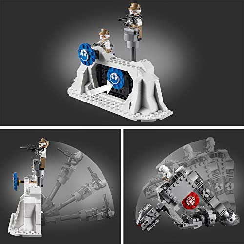 LEGO Star Wars - Action Battle: Defensa de la Base Eco, Juguete de Construcción de Nave Espacial de La Guerra de las Galaxias, Incluye Caminante AT-AT (75241)