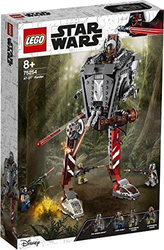 LEGO Star Wars TM - Asaltador AT-ST, Set de Construcción Inspirado en el Mandalorian, Incluye Minifiguras con Armas de la Guerra de las Galaxias, Juguete a partir de 8 años (75254)
