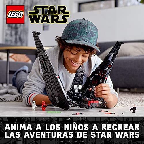 LEGO Star Wars TM - Lanzadera de Kylo Ren, Set de Construcción de Nave Espacial Inspirada en La Guerra de Las Galaxias Episodio IX, Incluye dos disparadores de juguete, El Ascenso de Skywalker (75256)