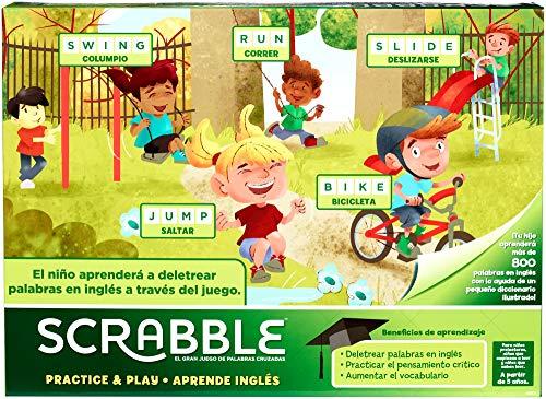 Mattel Games Scrabble Aprende inglés, juegos de mesa (Mattel GGB31)
