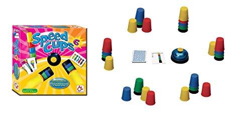 Mercurio- Juego Speed Cups 6 para 6 Jugadores y 12 Cartas Nuevas, Multicolor, única (A0048)