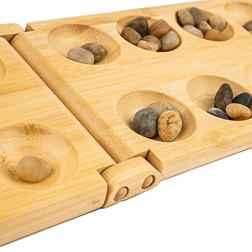 pandoo Bamboo Mancala - strategy board game - perfect for travel or holidays
