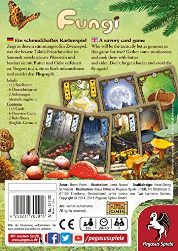 Pegasus Spiele - Juego de Cartas, para 2 Jugadores (Importado)