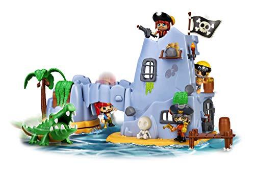 Pinypon Action- Isla Pirata del Capitán Caimán con 2 Figuras, niñas a Partir de 4 a 8 años (Famosa 700015637)