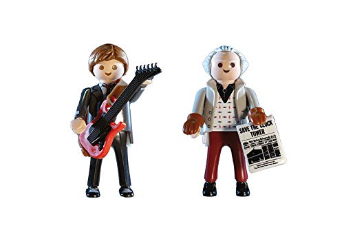 PLAYMOBIL-Back to The Future Marty Mcfly y Dr. Emmett Brown (70459)