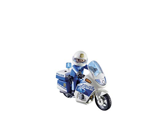 PLAYMOBIL City Action Policía con Moto y Luces LED, A partir de 5 años (6923)