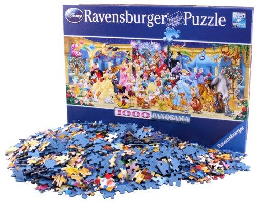 Ravensburger Personajes Disney - Puzzle Panorama, Premium Puzzle con tecnologia Softclick, 1000 piezas, para adultos (15109 7)