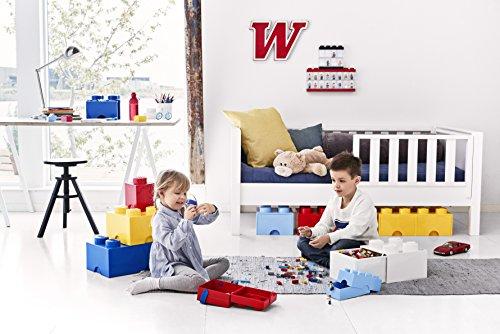 Room Copenhagen 4005 Lego Ladrillo 4 pomos, 1 cajón, Caja de almacenaje apilable, 4,7l, Legion/Light Royal Blue, 25 x 25 x 18 cm