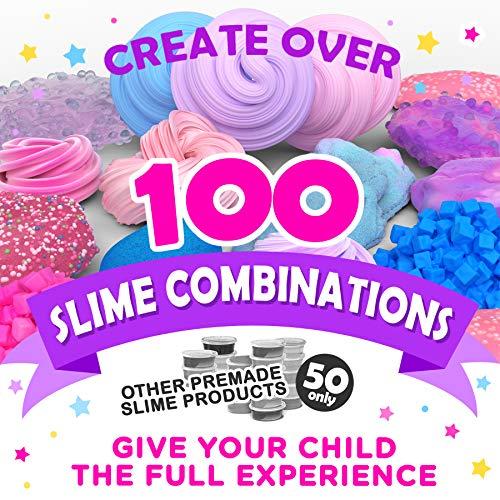 Slime Kit - Suplementos para Slime de Unicornio para Que Las Niñas Hagan Slime [Todo en Una Caja] Unicornios, Purpurina, Masa de Colores para Modelar, Plastilina, Floam Rosa