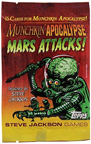 Steve Jackson Games 4236–Munchkin Apocalypse: Mars Attacks Booster Tarjeta Juegos