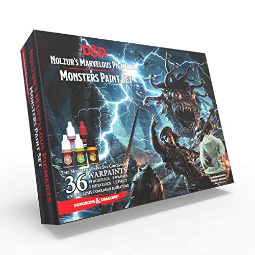 The Army Painter | Dungeons and Dragons Nolzur's Marvelous Pigments Monsters Paint Set | 36 Acrilic Colours for Miniature Model Painting and Wargames