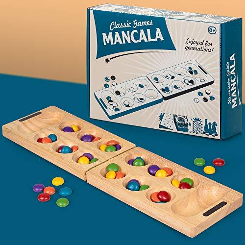 Tobar Mancala adictivo Fácil de Aprender clásico Juego de Mesa para Dos Jugadores