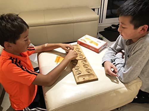 Toys of Wood Oxford Juego de Mesa Mancala - Juego de Mesa Kahala con Tablero de Madera Plegable - Juego de Mesa Ideal para Familias - Juego de Estrategia Mancala para Niños y Adultos