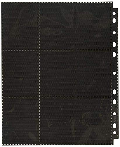 Ultimate Guard 18-Pocket Pages Side-Loading Negro (50)