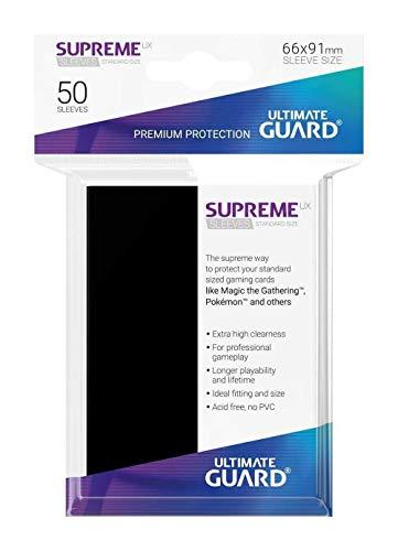 Ultimate Guard- Mangas Juego de Cartas, Color Negro (UGD010787)