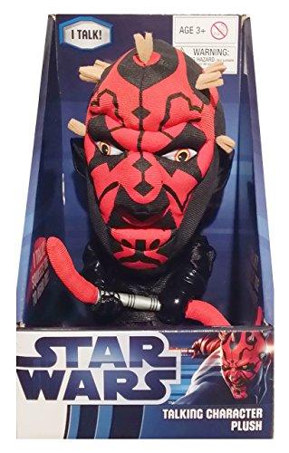 Underground Toys E-MOVI-631F - Star Wars, Darth Maul, Peluche con Sonido, 22 cm (SDTSDT28003) - Peluche Darth Maul (22cm)