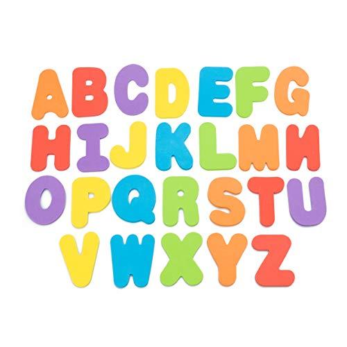 Wemk Números y Letras de Baño, 36 Piezas de Espuma (A-Z, 0-9), con Bolsa de Almacenamiento y 2 Ganchos Adhesivos, para Aprender y Divertirse - Cifras y Letras Educativas para Niños Mayores de 3 Años